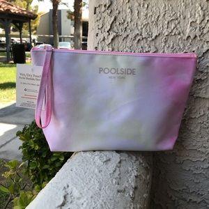 Poolside wet + dry pouch water colors tie dye